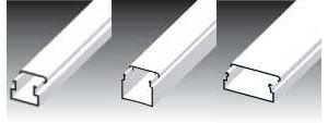 Короб пластиковый для прокладки кабеля LV 18x13 - 24x22 - 40x15
