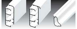 Плинтусный короб LP 80x25; LPK 80x25; LP 35